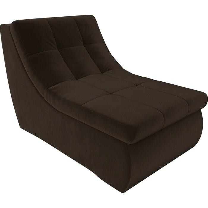 Модуль Лига Диванов Холидей кресло микровельвет коричневый