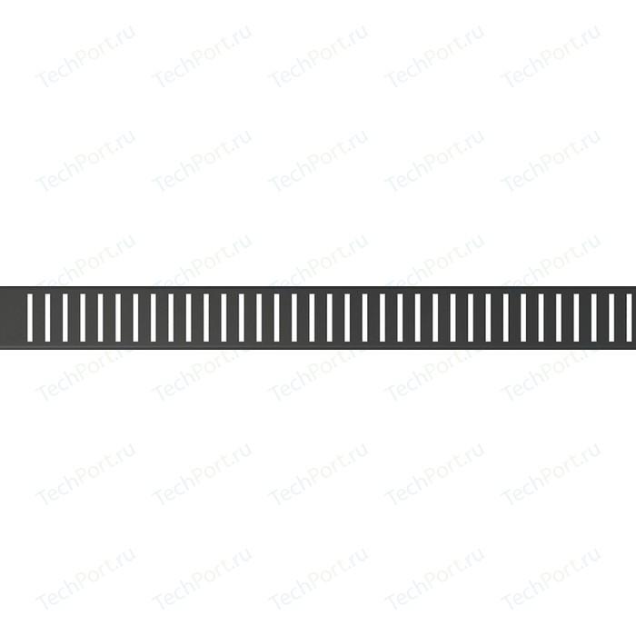 Решетка AlcaPlast черная (PURE-550BLACK)