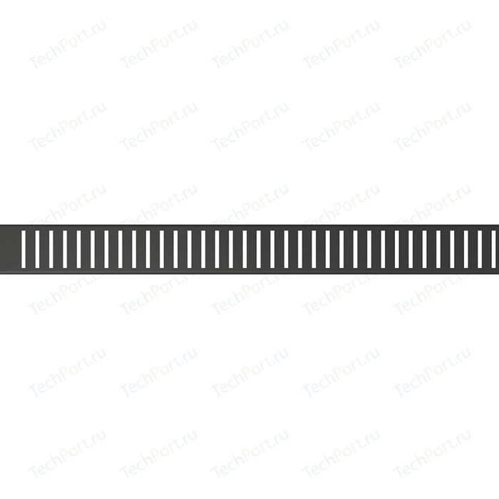 Решетка AlcaPlast черная (PURE-750BLACK)