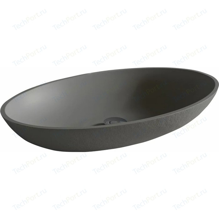 Раковина Acquabella On-Top Oval 58x38 серая (LAVABO_ON-TOP_OVAL_SLATE_LAVA)