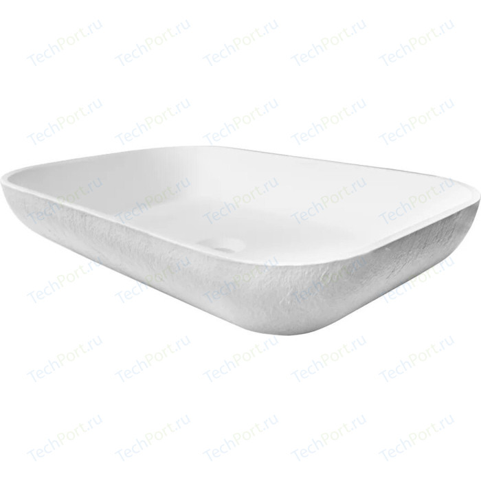 Раковина Acquabella On-Top Oval 58x38 белая (LAVABO_ON-TOP_RECTANGLE_SLATE_BLANCO)