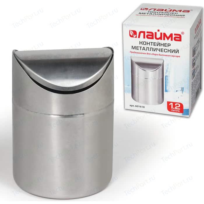 Фото - Урна для мусора Лайма Настольная, с качающейся крышкой, нержавеющая сталь, матовая 601618 урна для мусора лайма настольная с качающейся крышкой нержавеющая сталь матовая 601618