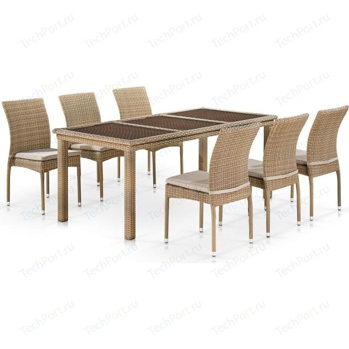 Комплект мебели Afina garden T365/Y380B-W65 6PCS light brown