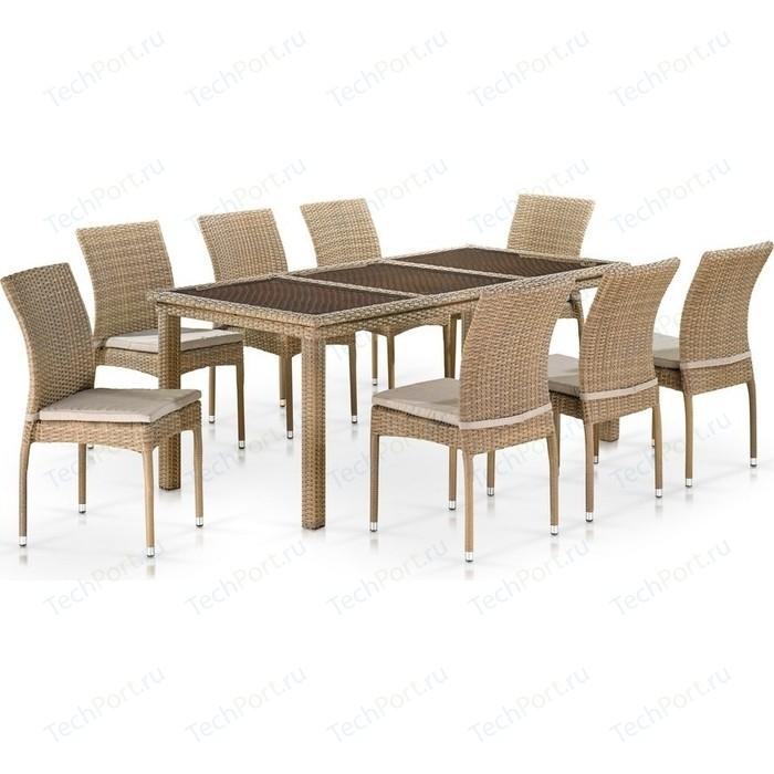 Комплект мебели Afina garden T365/Y380B-W65 8PCS light brown