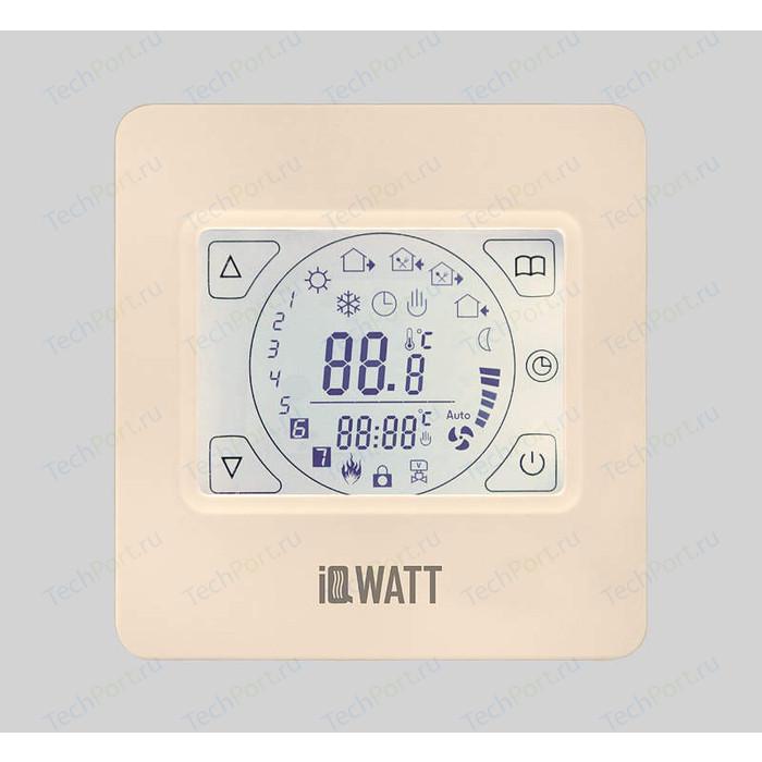 Терморегулятор программируемый IQWATT IQ THERMOSTAT TS (слоновая кость) (сенсорный дисплей)