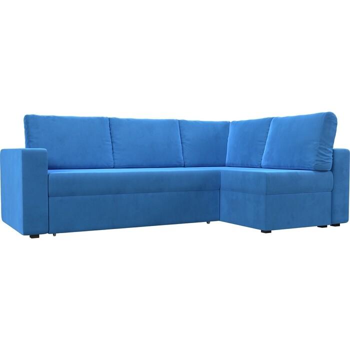 Фото - Угловой диван Лига Диванов Оливер велюр голубой правый угол угловой диван лига диванов форсайт велюр mr голубой правый угол