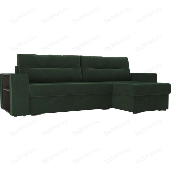 Фото - Угловой диван Лига Диванов Эридан велюр зеленый правый угол угловой диван лига диванов эридан велюр синий левый угол