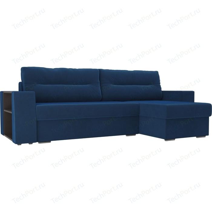 Фото - Угловой диван Лига Диванов Эридан велюр голубой правый угол угловой диван лига диванов эридан велюр синий левый угол