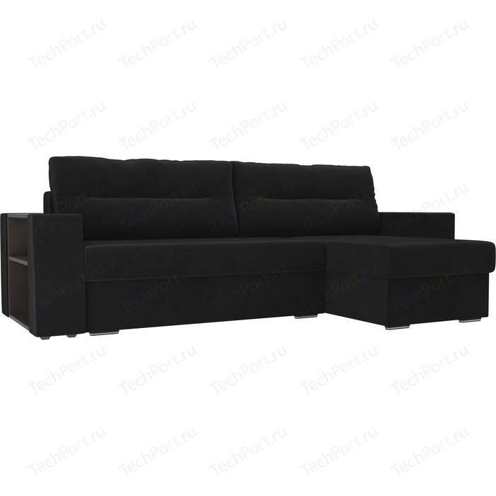 Фото - Угловой диван Лига Диванов Эридан велюр черный правый угол угловой диван лига диванов эридан велюр синий левый угол
