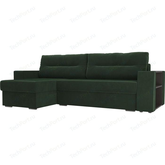 Фото - Угловой диван Лига Диванов Эридан велюр зеленый левый угол угловой диван лига диванов эридан велюр синий левый угол