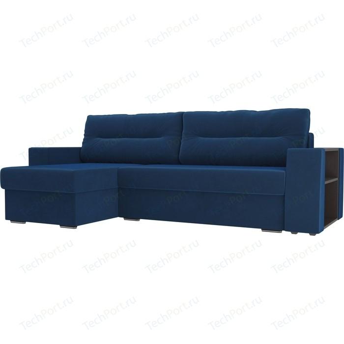 Фото - Угловой диван Лига Диванов Эридан велюр голубой левый угол угловой диван лига диванов эридан велюр синий левый угол