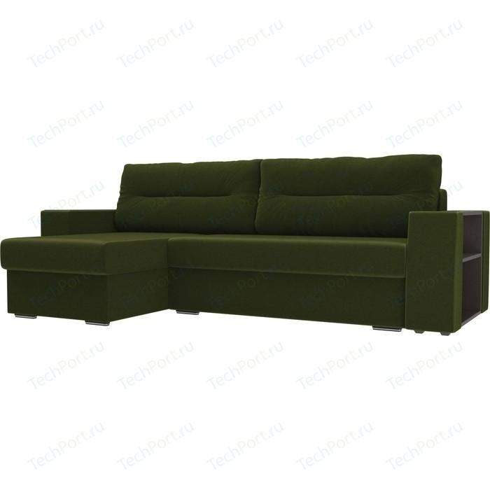 Фото - Угловой диван Лига Диванов Эридан микровельвет зеленый левый угол угловой диван лига диванов эридан велюр синий левый угол