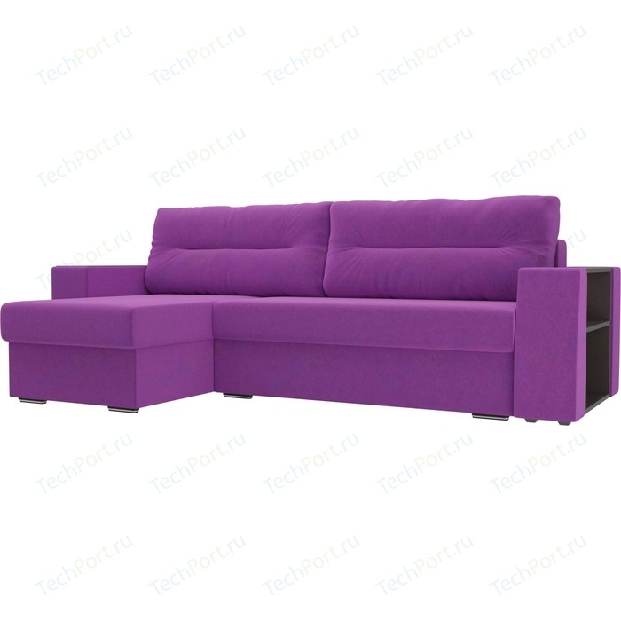 Фото - Угловой диван Лига Диванов Эридан микровельвет фиолетовый левый угол угловой диван лига диванов эридан велюр синий левый угол