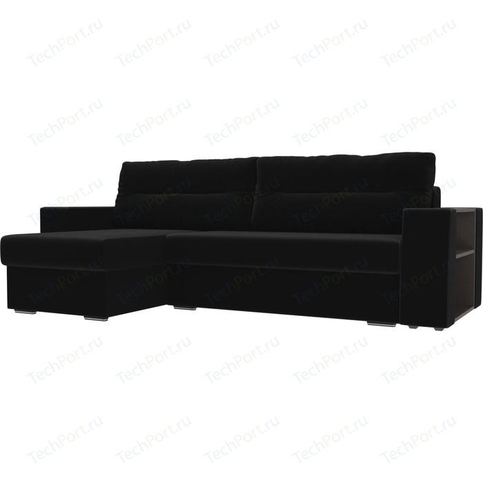 Фото - Угловой диван Лига Диванов Эридан микровельвет черный левый угол угловой диван лига диванов канзас микровельвет черный левый угол