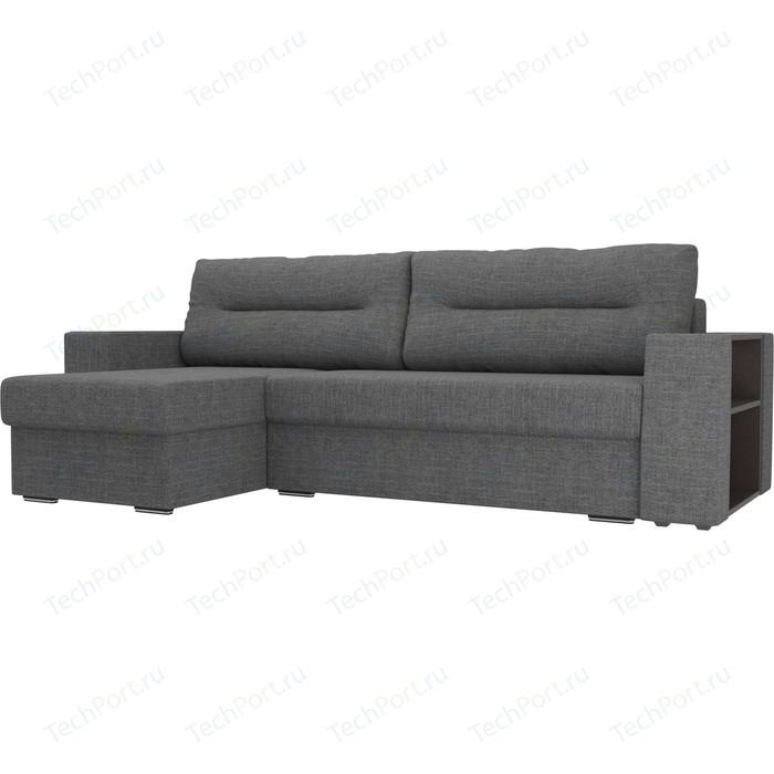 Фото - Угловой диван Лига Диванов Эридан рогожка серый левый угол угловой диван лига диванов эридан велюр синий левый угол