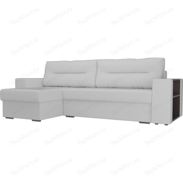 Фото - Угловой диван Лига Диванов Эридан экокожа белый левый угол угловой диван лига диванов эридан велюр синий левый угол