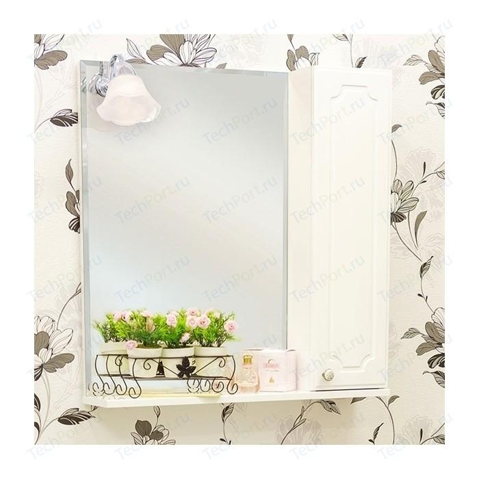 Зеркало-шкаф Sanflor Ксения 60 правый, белый (H0000000115)