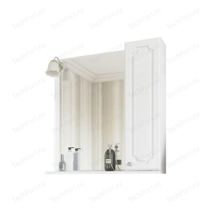 Зеркало-шкаф Sanflor Ксения 70 правый, белый (H0000000118)