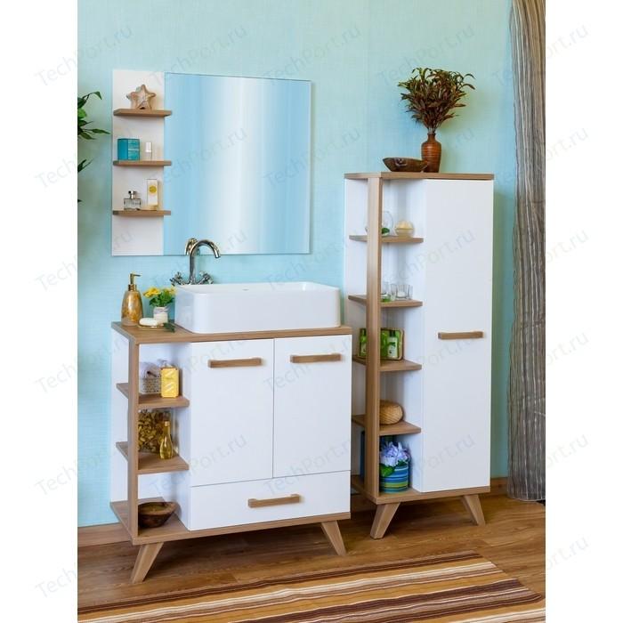 Мебель для ванной Sanflor Ингрид 80 швейцарский вяз\белый