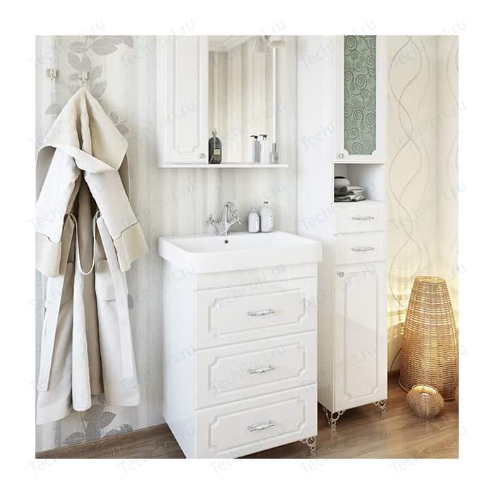 Мебель для ванной Sanflor Ксения 60 напольная, белая