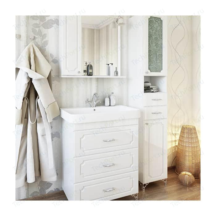 Мебель для ванной Sanflor Ксения 70 напольная, белая