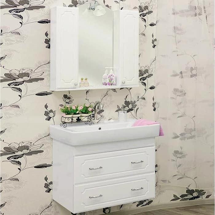 Мебель для ванной Sanflor Ксения 80 подвесная, белая