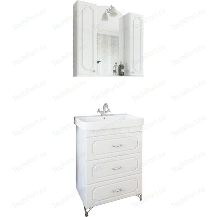 Мебель для ванной Sanflor Ксения 80 напольная, белая