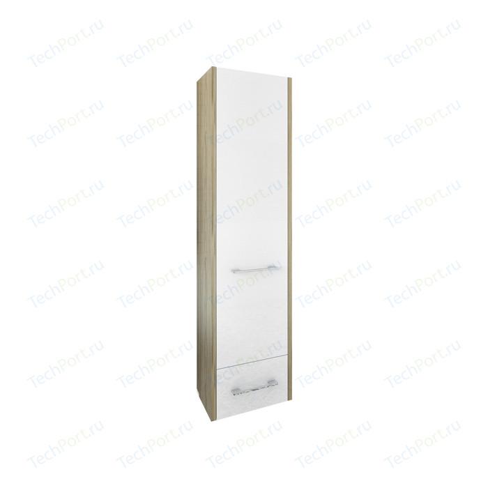 Шкаф-пенал Sanflor Ларго 40 подвесной, правый, швейцарский вяз\белый (H0000000518)