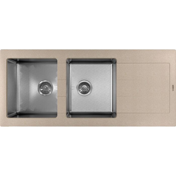 Кухонная мойка Florentina Комби 1160 песочный Fg (21.415.E1160.107)