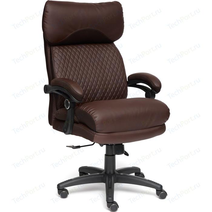Кресло TetChair CHIEF кож/зам/ткань коричневый/коричневый стеганый, 36-36/36-36 стеганый/24
