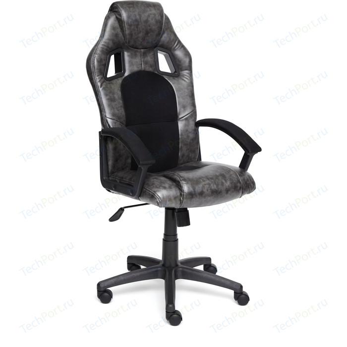 Кресло TetChair DRIVER кож/зам/ткань серый/черный 2 TONE/11