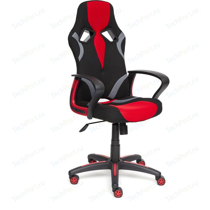 Кресло TetChair RUNNER ткань черный/красный 2603/08/12