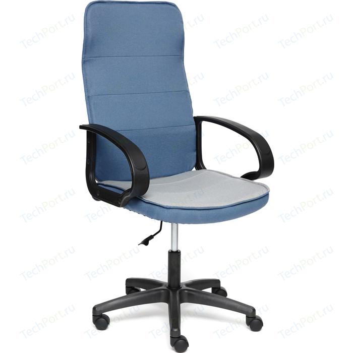 Кресло TetChair WOKER ткань синий/серый С24/С27