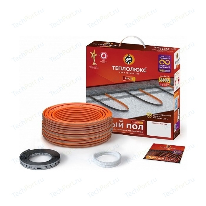Нагревательный кабель Теплолюкс ProfiRoll 450 Вт. - 25,0 м тёплый пол универсальный теплолюкс эко 490 вт 35 м
