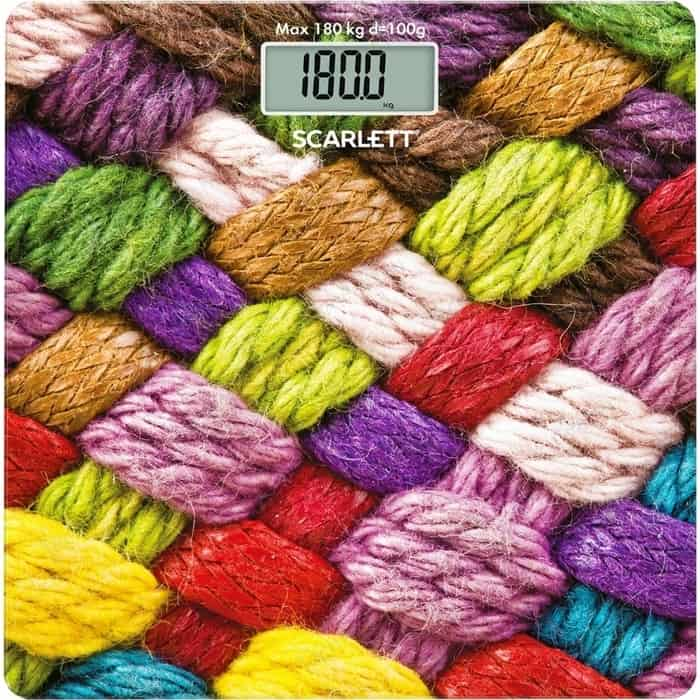 Весы напольные Scarlett SC-BS33E031 весы напольные электронные scarlett sc bs33e031 макс 180кг рисунок шерсть