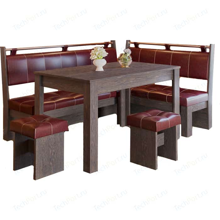 Кухонный уголок Это-мебель Остин венге/бордо