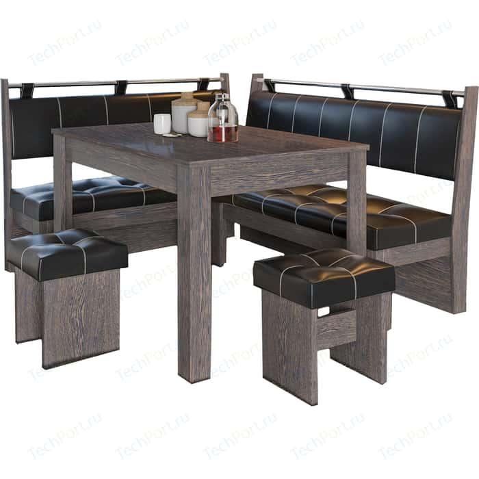 Фото - Кухонный уголок Это-мебель Остин венге/браун кухонный уголок феникс тип 1 мини венге шоколад бежевый