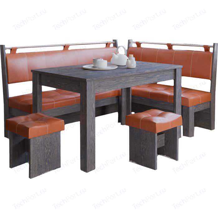 Фото - Кухонный уголок Это-мебель Остин венге/персик кухонный уголок феникс тип 1 мини венге шоколад бежевый