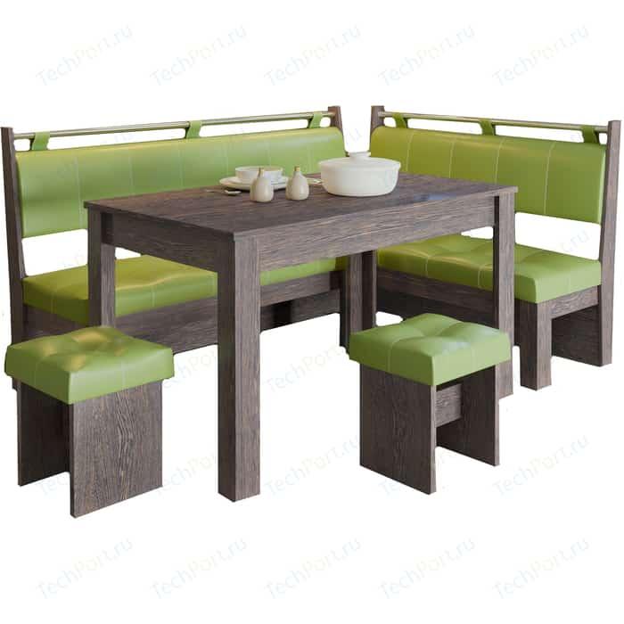 Фото - Кухонный уголок Это-мебель Остин венге/фисташка кухонный уголок феникс тип 1 мини венге шоколад бежевый