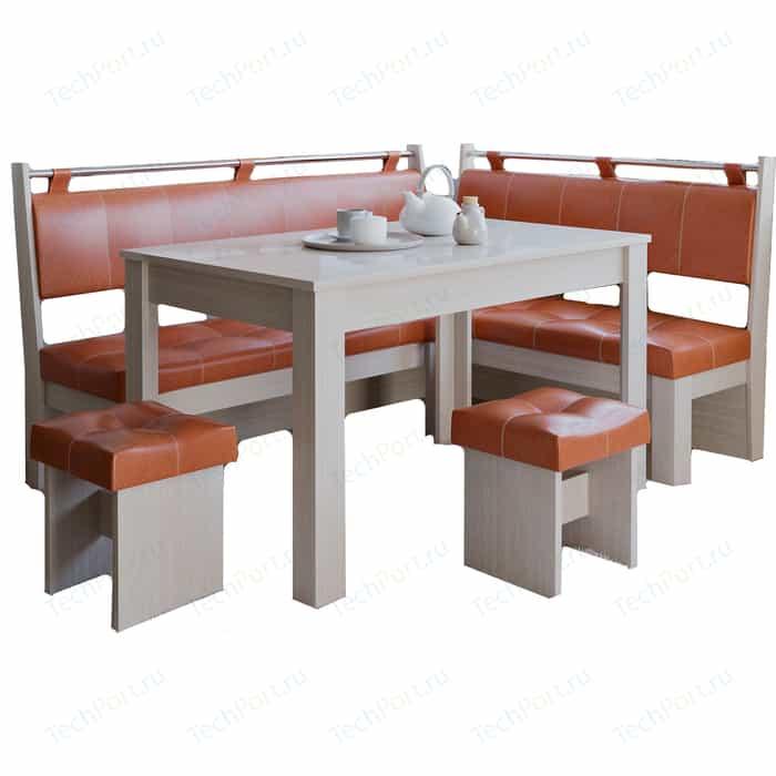 Кухонный уголок Это-мебель Остин дуб белфорд/персик