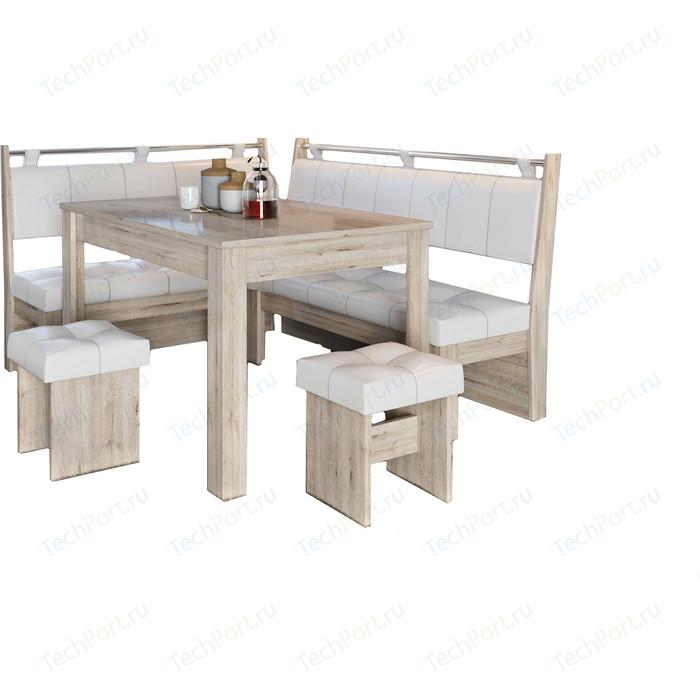 Кухонный уголок Это-мебель Остин дуб белфорд/светлый