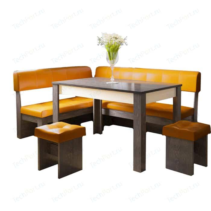 Кухонный уголок Это-мебель Валенсия венге/оранж
