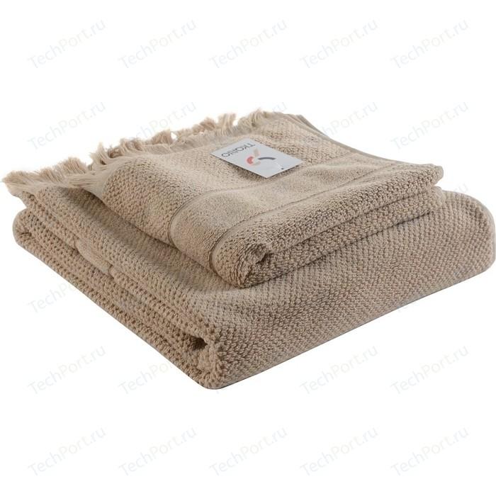 Банное полотенце с бахромой бежевого цвета 70х140 Tkano Essential (TK18-BT0032)