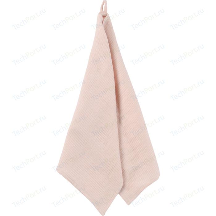 Вафельное кухонное полотенце цвета пыльной розы 47x70 Tkano Essential (TK18-TT0005)