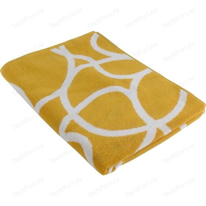 Полотенце с авторским дизайном Gravity горчичного цвета 70х140 Tkano Cuts&Pieces (TK18-BT0033)