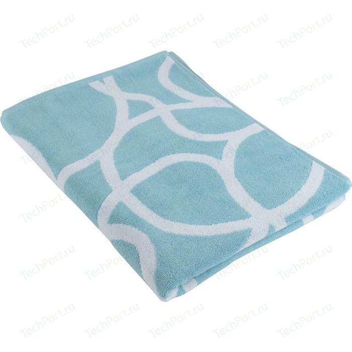 Полотенце с авторским дизайном Gravity голубого цвета 70х140 Tkano Cuts&Pieces (TK18-BT0034)