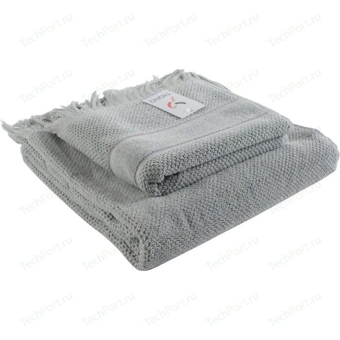 Полотенце для рук декоративное с бахромой серого цвета 50х90 Tkano Essential (TK18-BT0027)