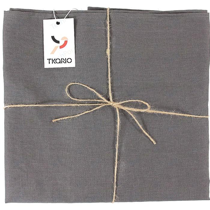 Скатерть на стол темно-серого цвета 143х143 Tkano Essential (TK18-TC0016)