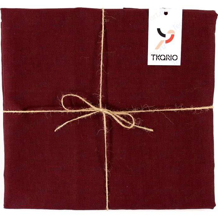 Скатерть на стол бордового цвета 143х250 Tkano Essential (TK18-TC0017)