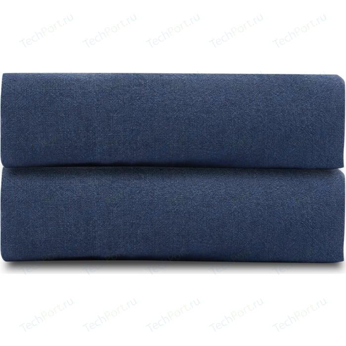 Простыня темно-синего цвета 240х270 Tkano Essential (TK18-LS0025)